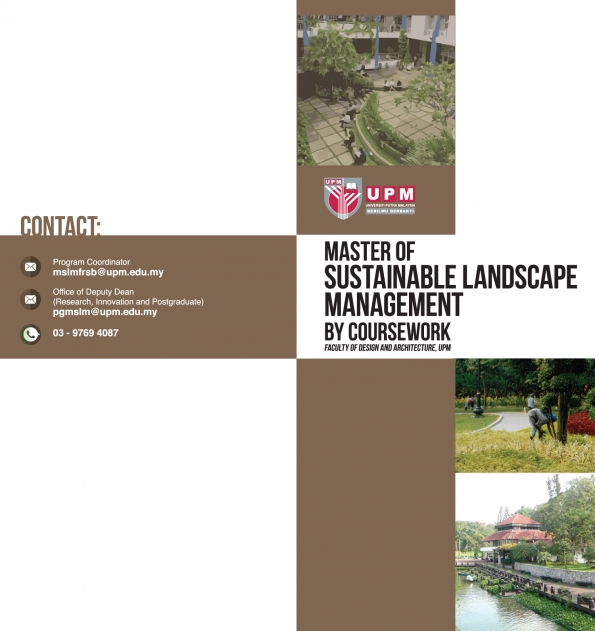 MASTER OF SUSTAINABLE LANDSCAPE MANAGEMENT BY COURSEWORK