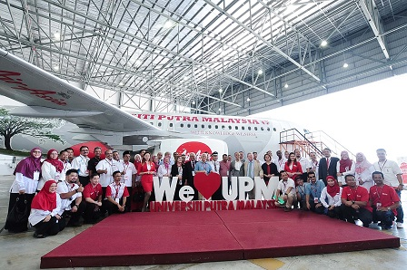 UPM - AIRASIA STRATEGIC COLLABORATION:  THE LAUNCHING OF UPM LIVERY ON AIRASIA AIRCRAFT