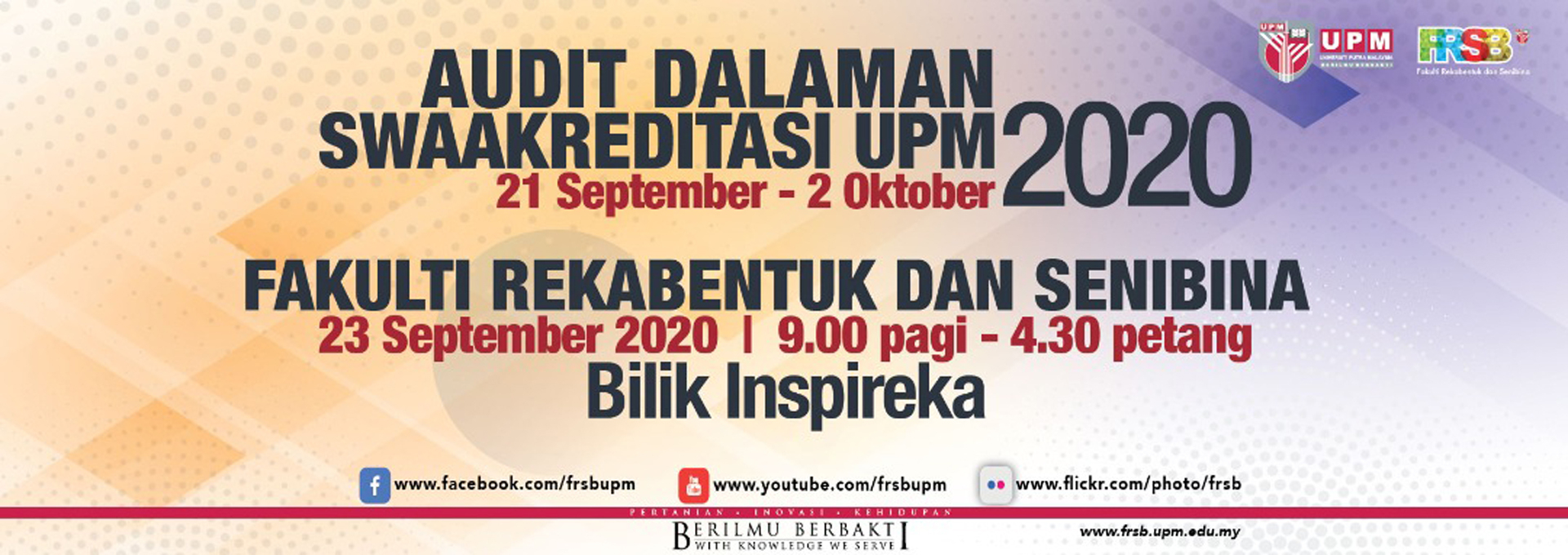 UPM Accreditation Internal Audit 2020